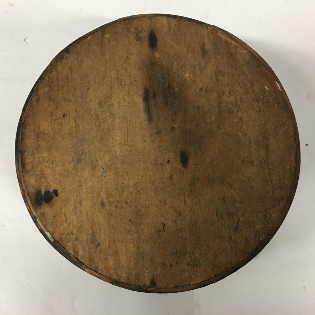 Original Dark Stain Primitive Round Pantry Box - 3