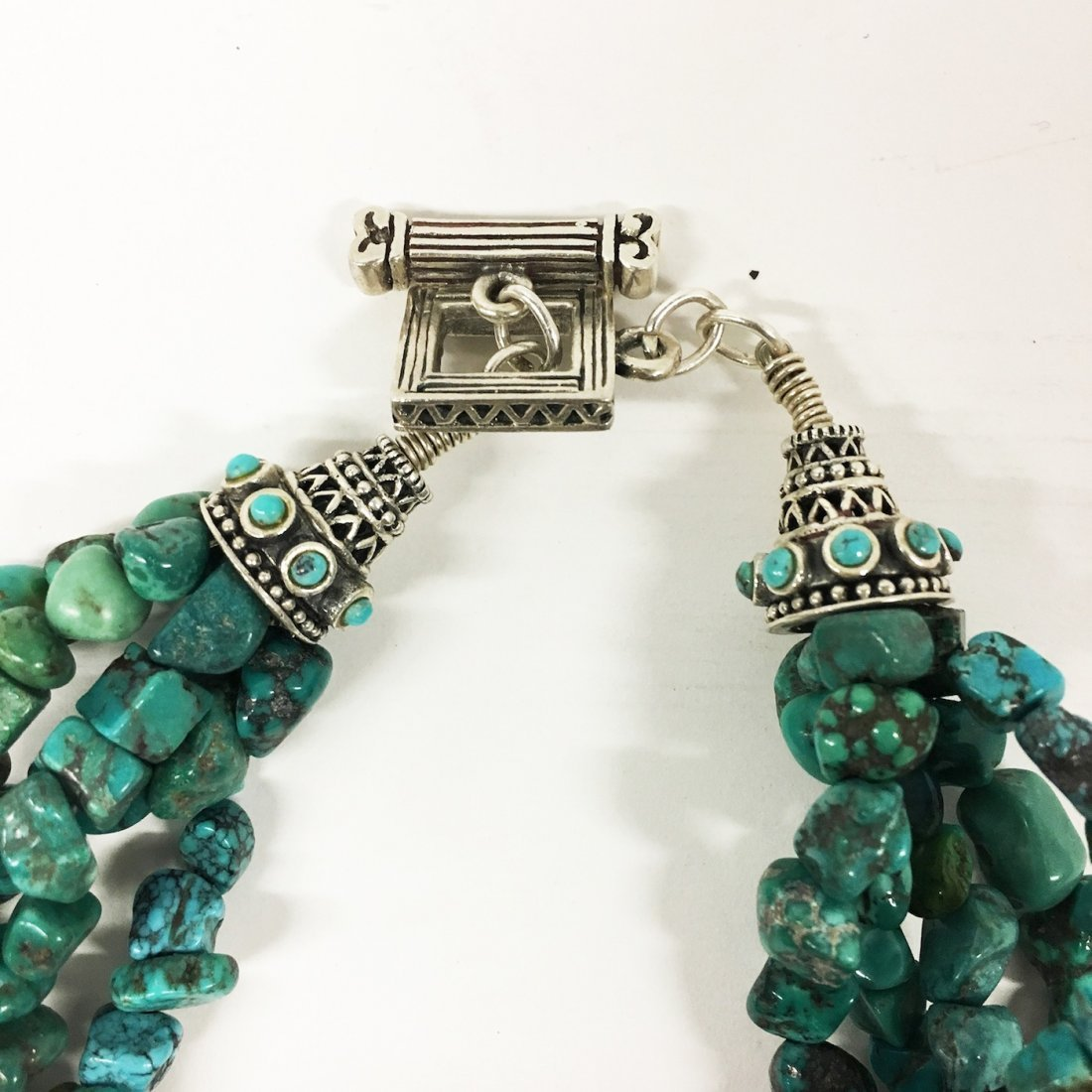 Turquoise and Sterling necklaces with gemstone accents - 4