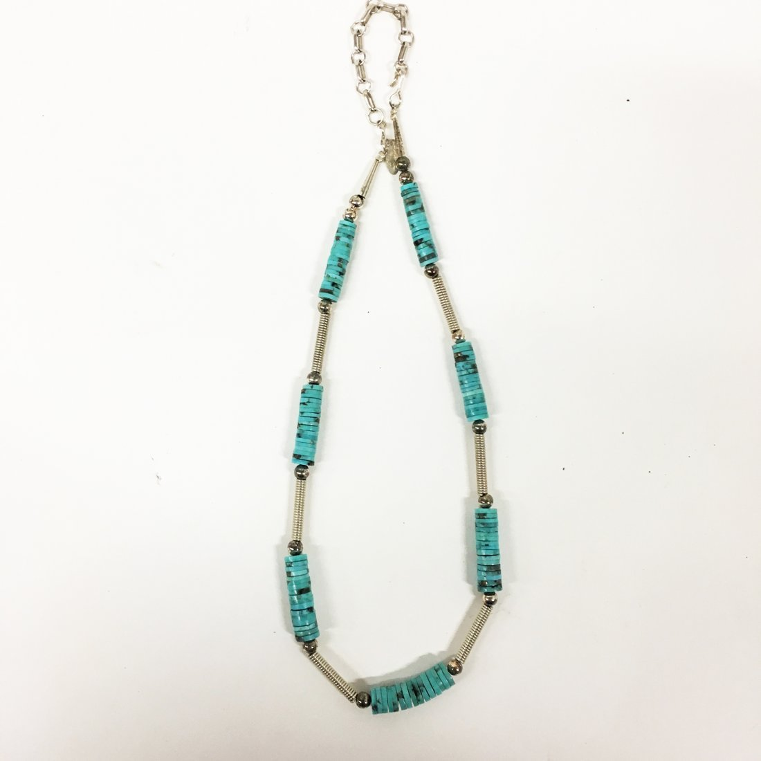 Turquoise and Sterling necklaces with gemstone accents - 5