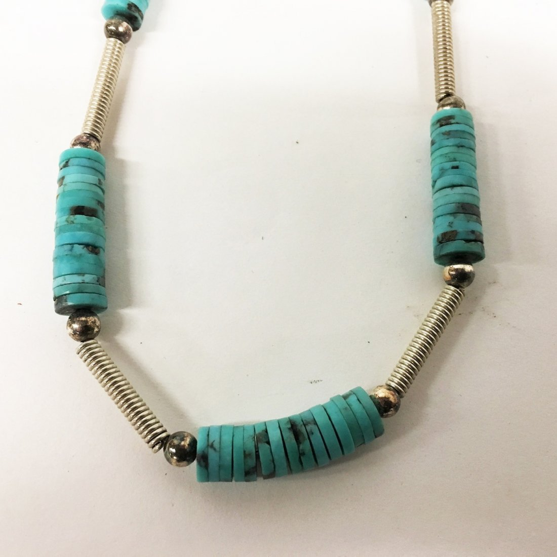 Turquoise and Sterling necklaces with gemstone accents - 6