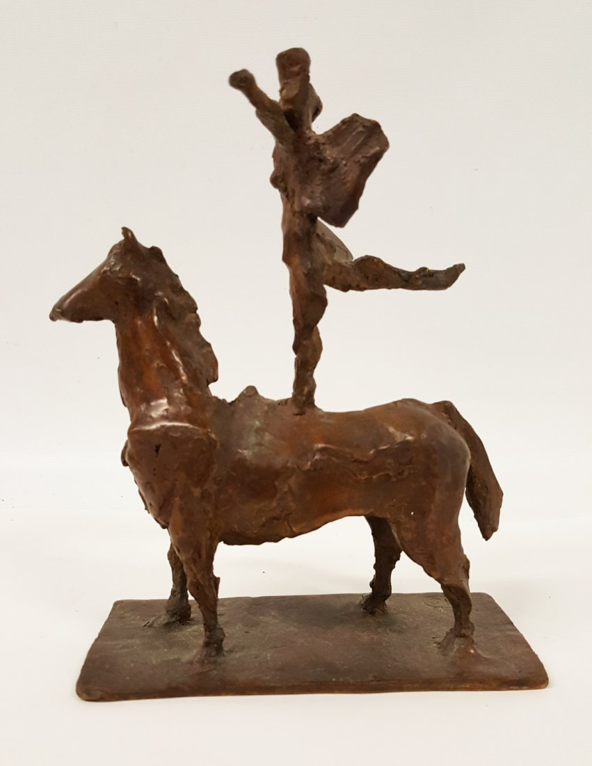 After Giacometti Bronze figure on horseback