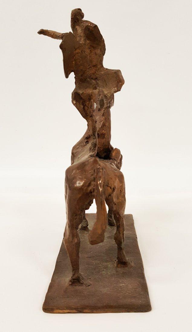 After Giacometti Bronze figure on horseback - 3