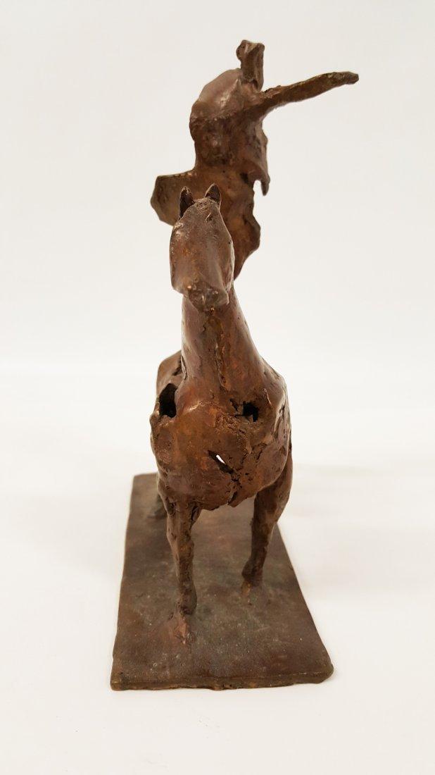 After Giacometti Bronze figure on horseback - 4