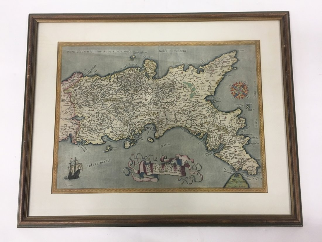 Antiquarian Map - Italy