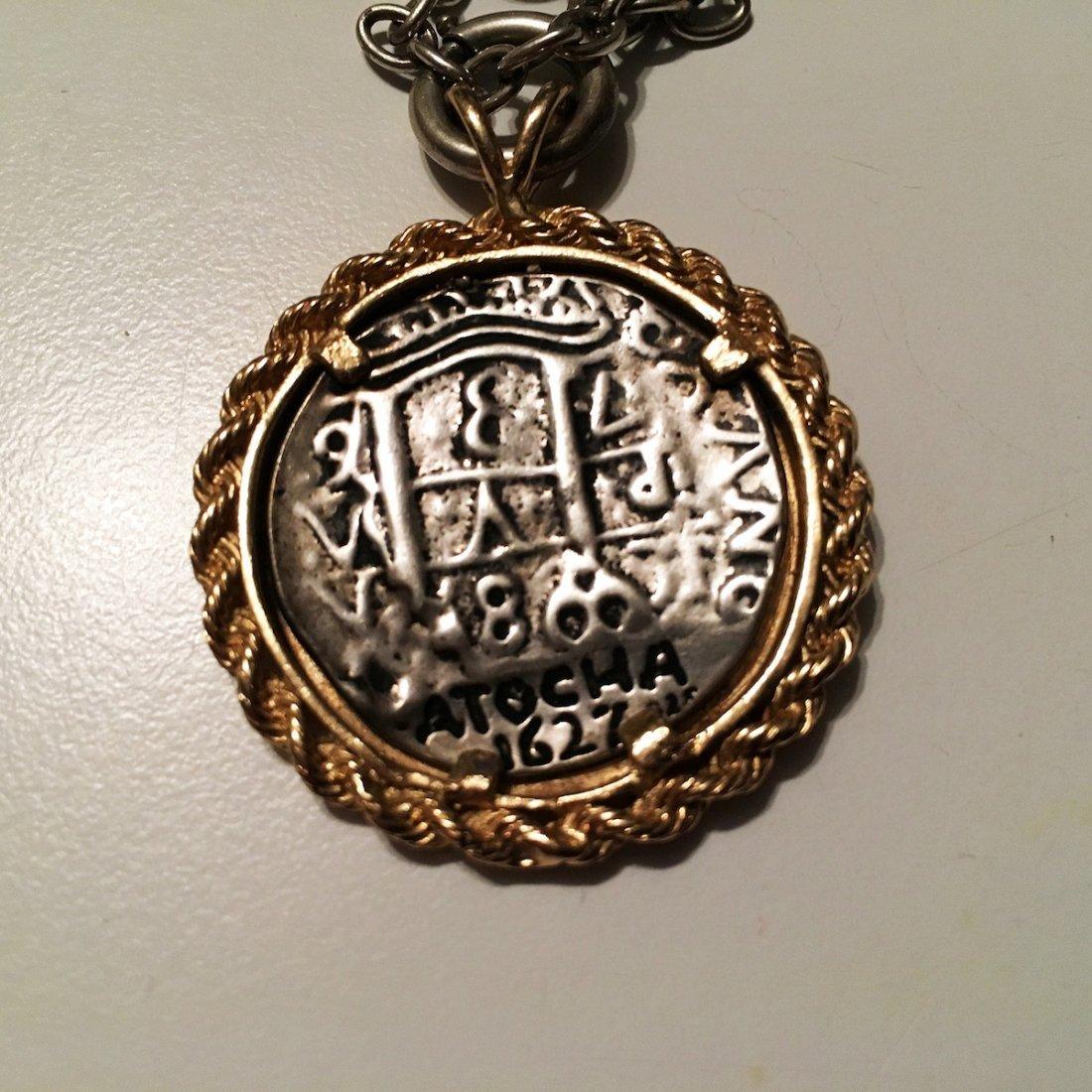 Atocha 1627 shipwreck silver and gold coin pendant - 3