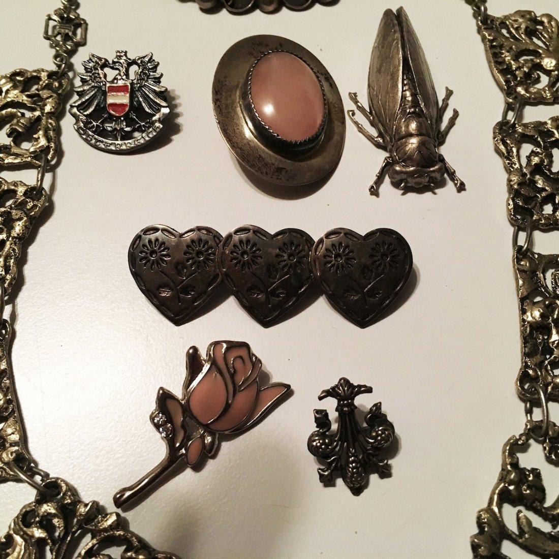 Silver Jewelry, Pins, Charm bracelet, Bug - 3