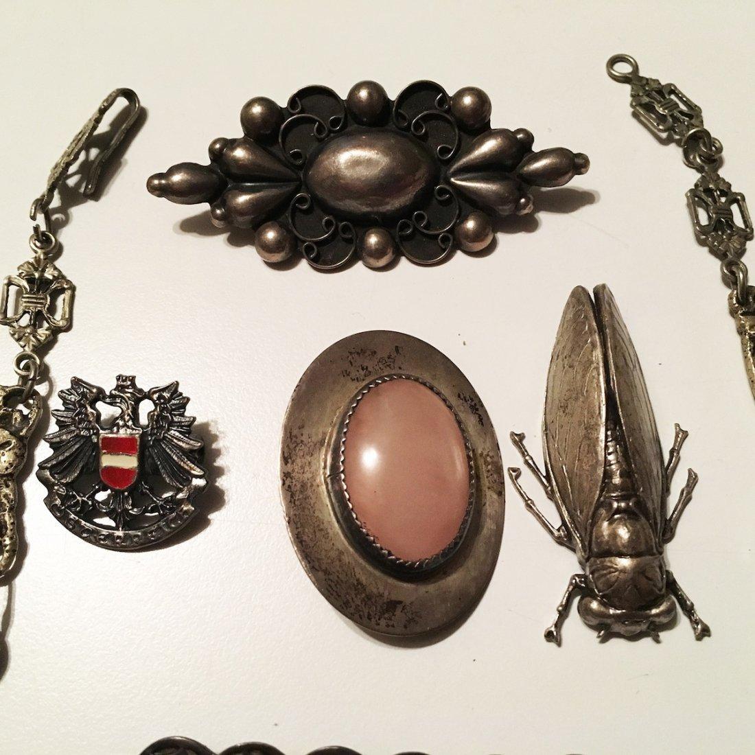 Silver Jewelry, Pins, Charm bracelet, Bug - 4