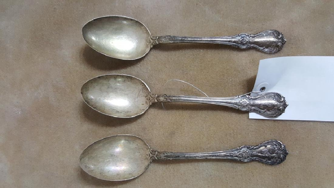 "Towel Sterling Silver ""Old Master"" Serving Spoons"