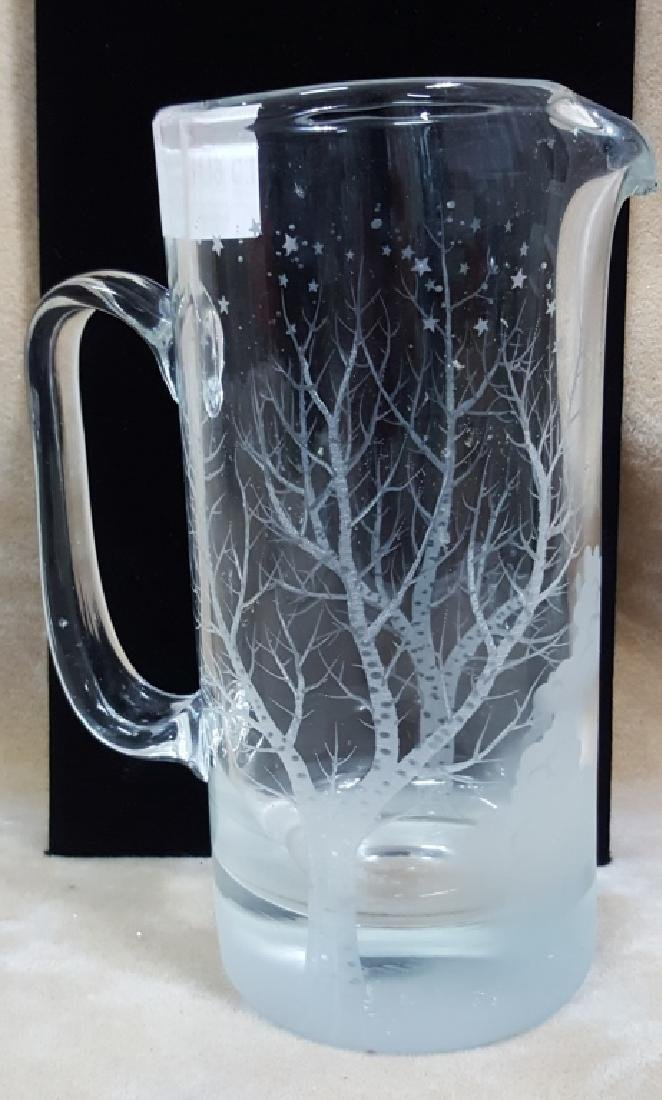 "R. Lapsys ""Frost of Winter"" Diamond Etched Glass"