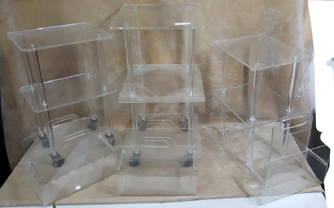 Lucite Rolling Tables