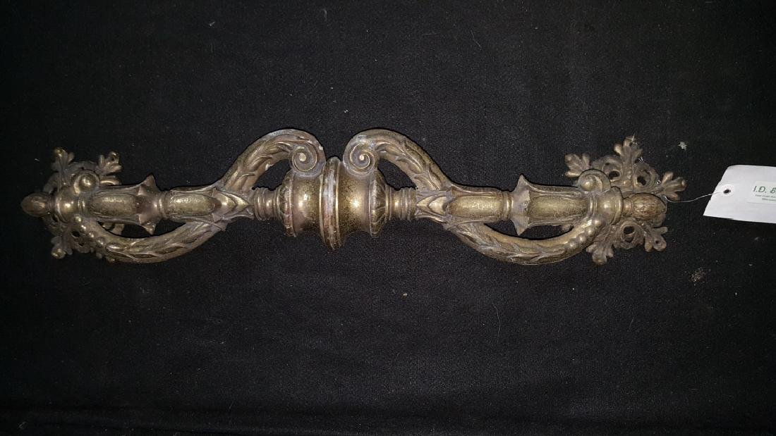 Large Bronze Victorian Style Door Pull