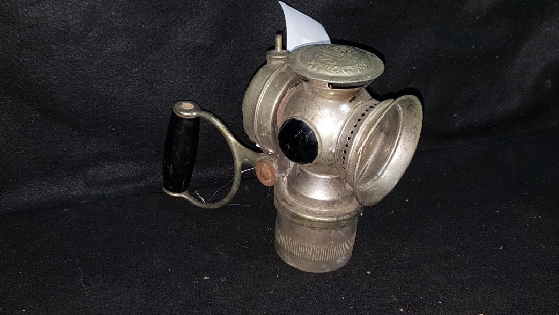 C.M.Hall Lamp Co Nickel Carbide Bicycle Lantern