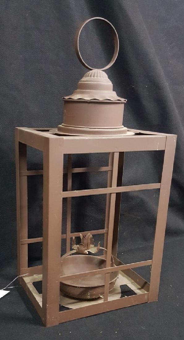 Large Wrought Iron Lantern - 4