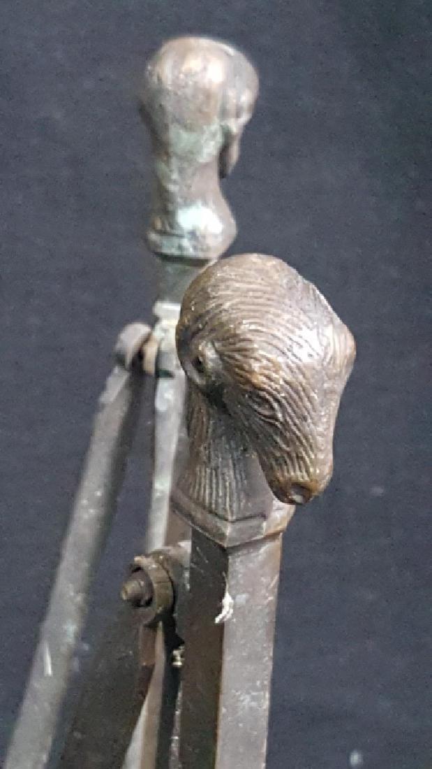 Mid Century Bronze Rams Head / Hoof Pedestal - 4