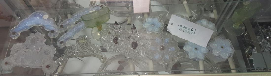 Antique Victorian? Tie Backs & Putti Glass Handles - 2