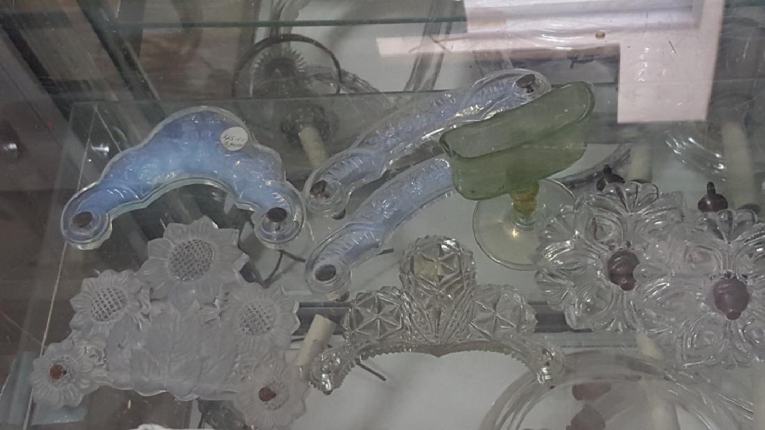 Antique Victorian? Tie Backs & Putti Glass Handles - 3