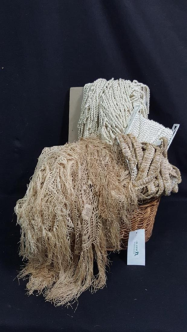 Large Collection of Vintage Lace / Rope / Fringe