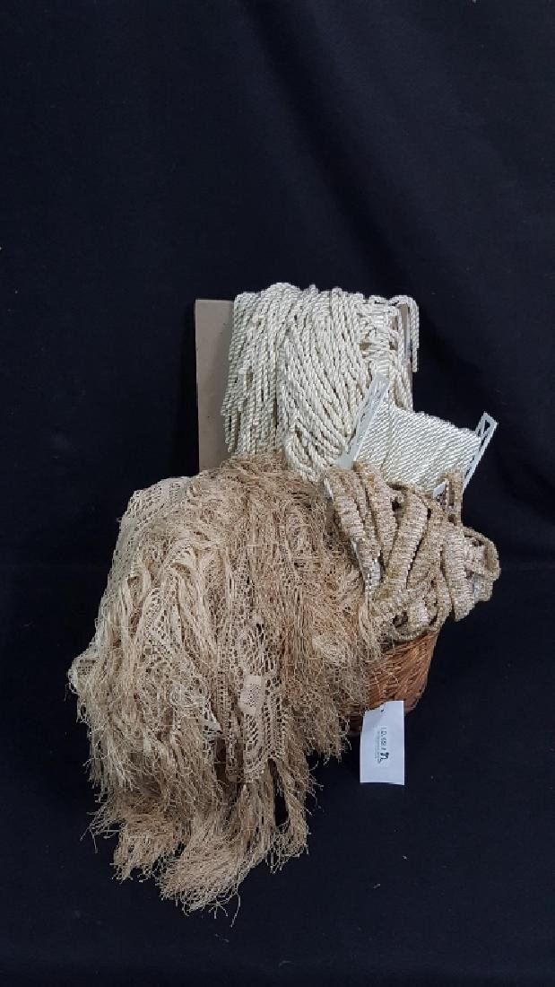 Large Collection of Vintage Lace / Rope / Fringe - 2
