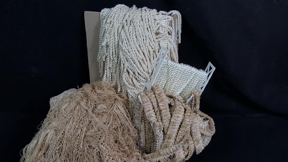 Large Collection of Vintage Lace / Rope / Fringe - 3