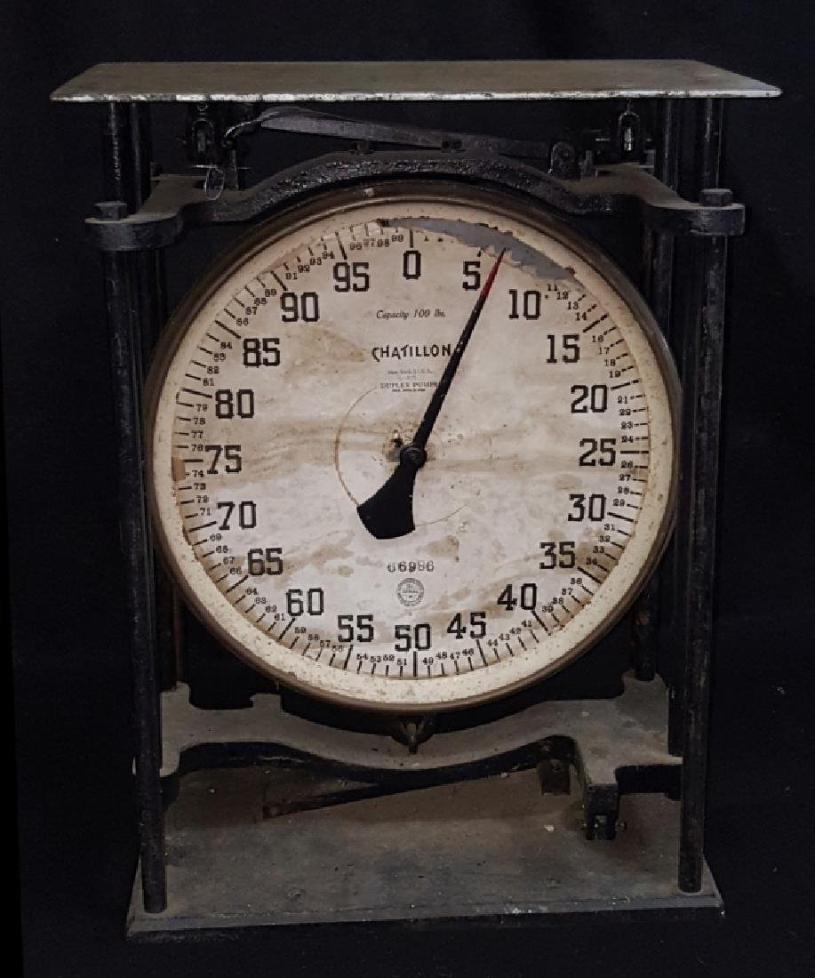 Chatillon 100lb. Duplex Pump Scale