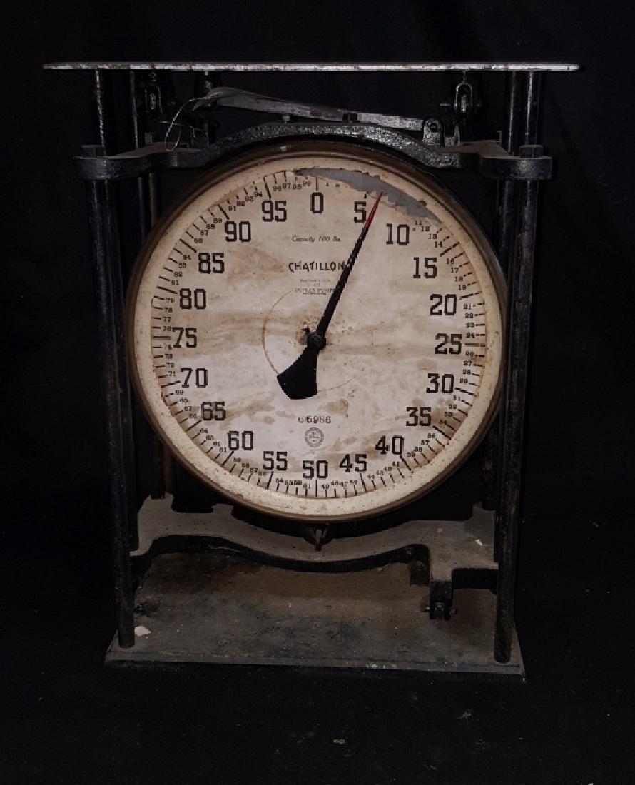 Chatillon 100lb. Duplex Pump Scale - 2