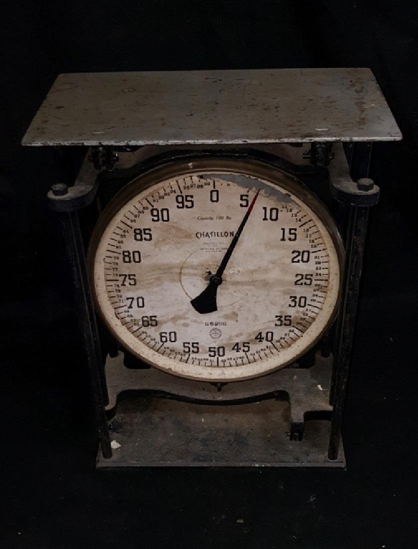 Chatillon 100lb. Duplex Pump Scale - 3