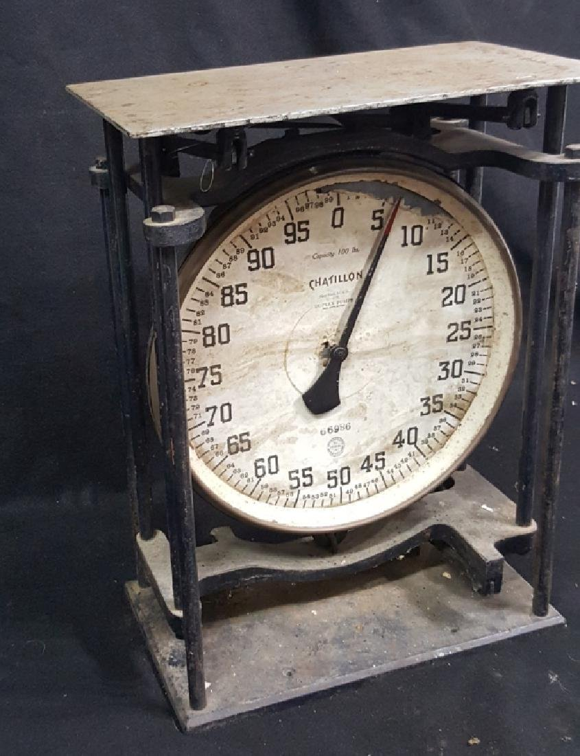 Chatillon 100lb. Duplex Pump Scale - 4