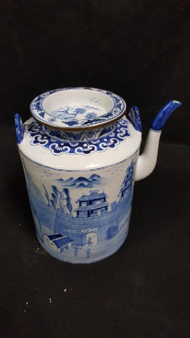 Large Blue and White Chinese Jug