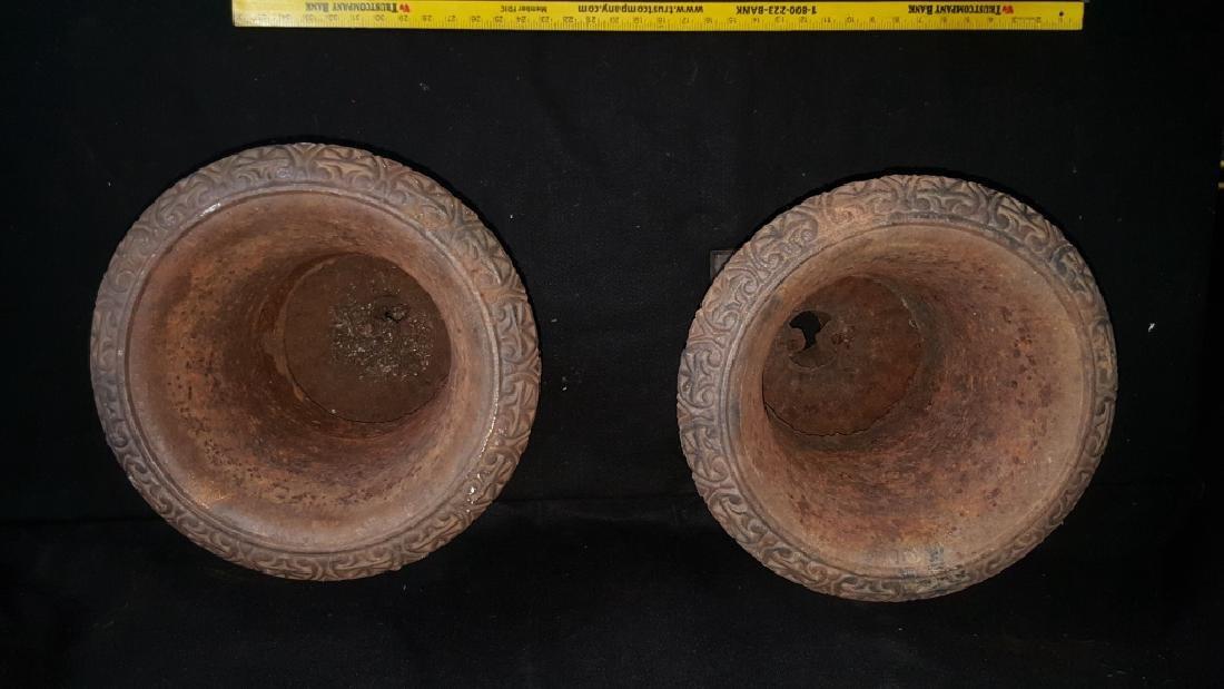 A Matching Pair of Cast Iron Urns - 3