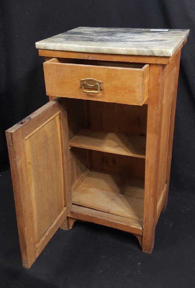 Marble Top Single Drawer Cabinet - 2
