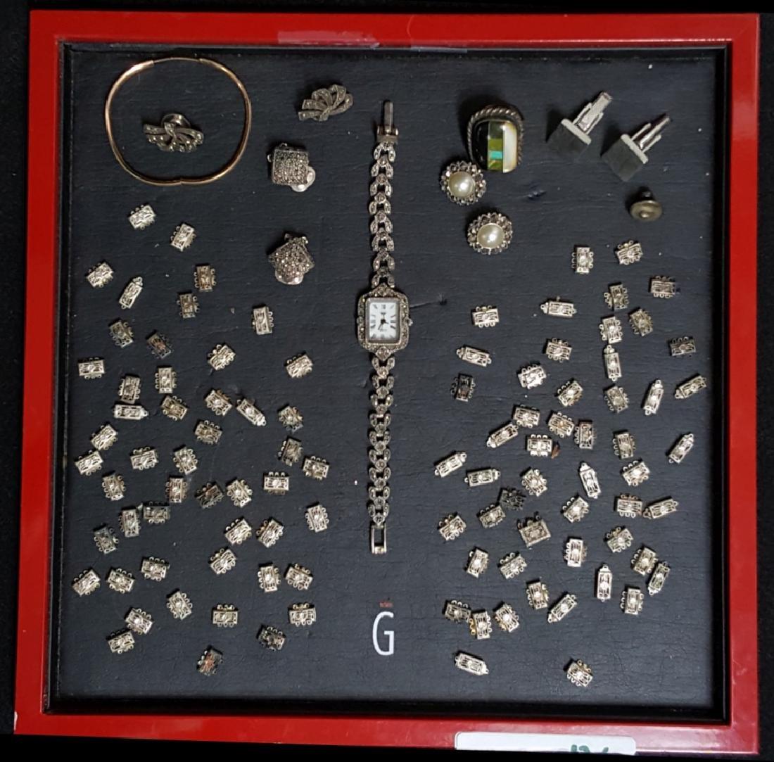 Sterling Silver / Marcasite Watch, Earrings & MORE