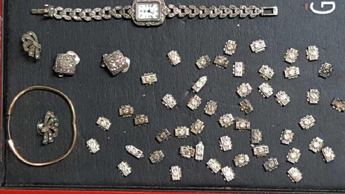 Sterling Silver / Marcasite Watch, Earrings & MORE - 3