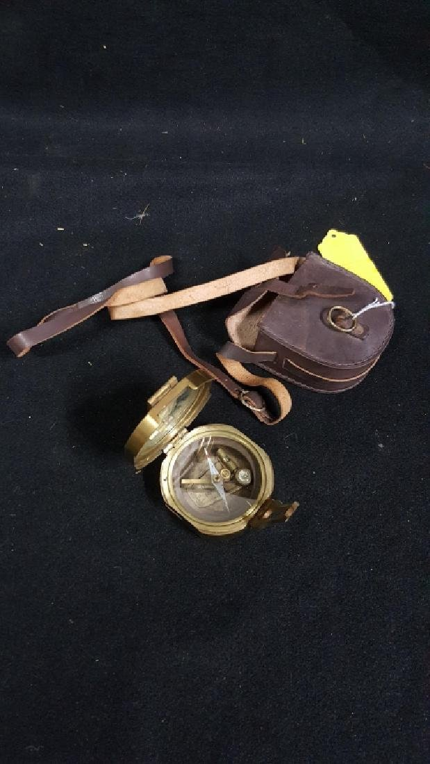 Ross Evans London Brass Compass & Leather Case - 4