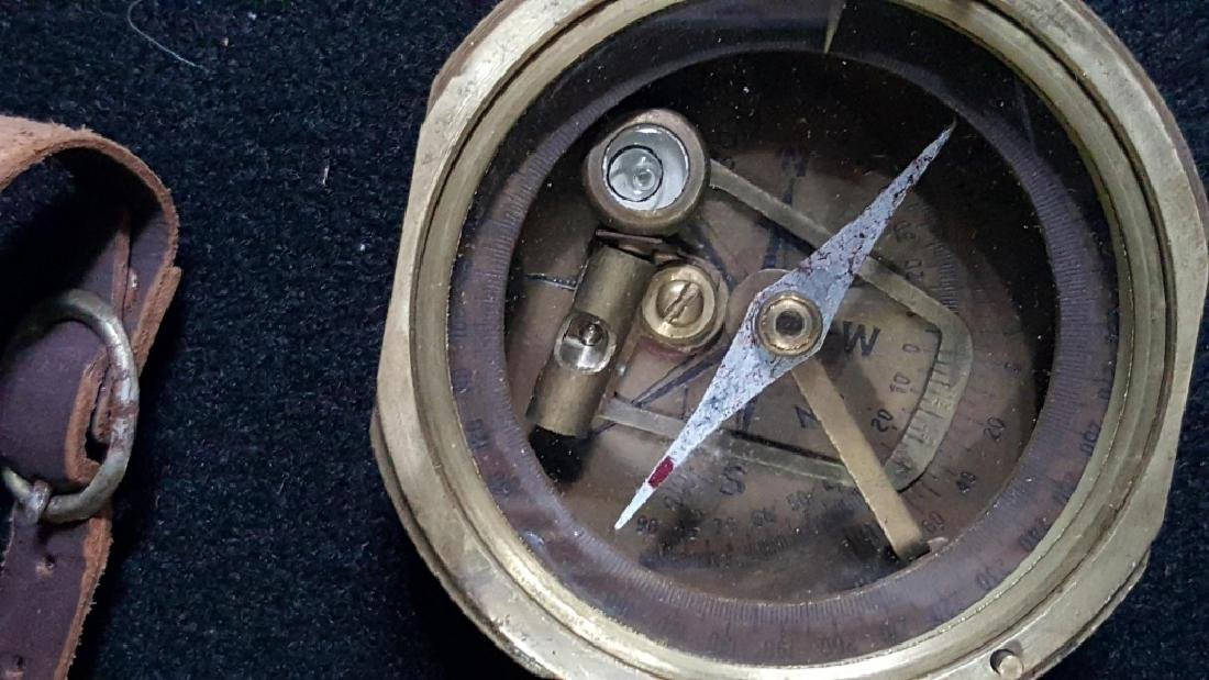 Ross Evans London Brass Compass & Leather Case - 5