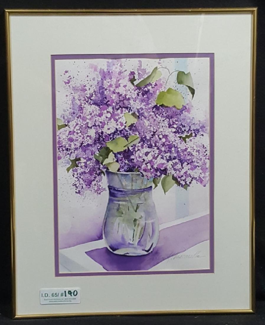 "Carolyn Pascarella signed Watercolor ""Lavender"""