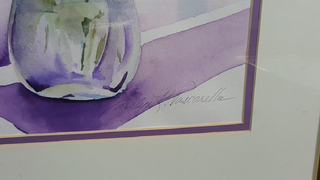 "Carolyn Pascarella signed Watercolor ""Lavender"" - 2"