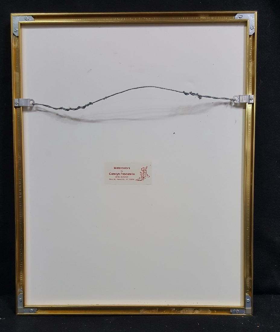 "Carolyn Pascarella signed Watercolor ""Lavender"" - 3"