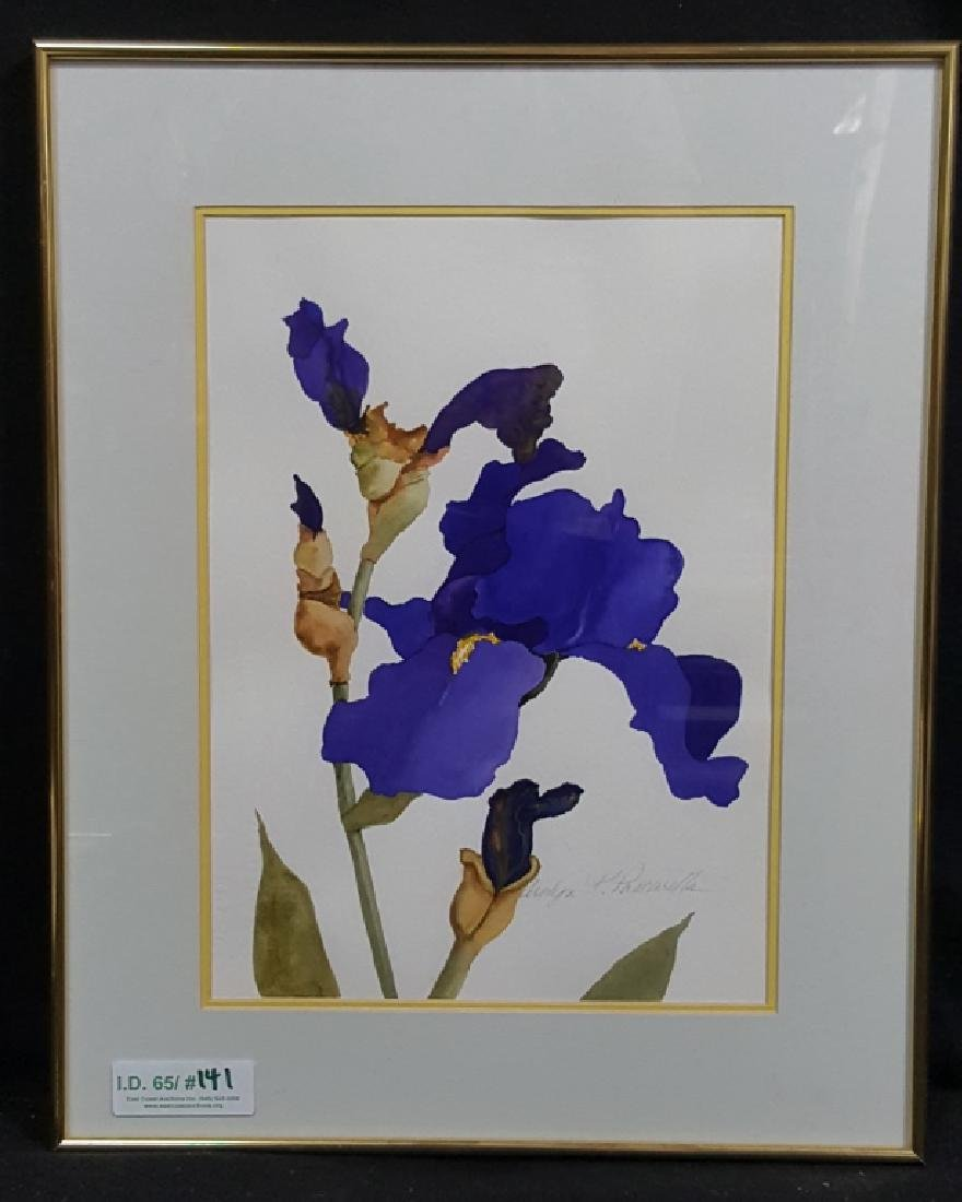 Carolyn Pascarella Watercolor of Iris Flowers