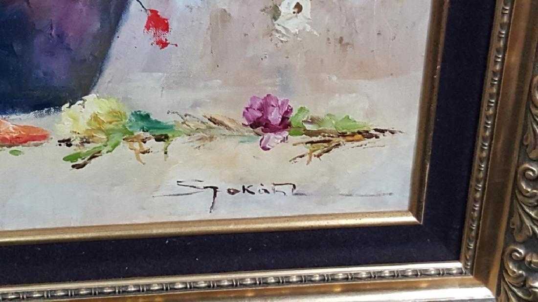 Lajos Szakats Oil on Canvas Floral Painting - 2