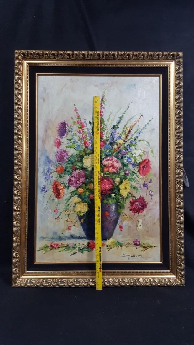 Lajos Szakats Oil on Canvas Floral Painting - 3