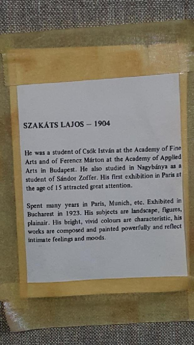 Lajos Szakats Oil on Canvas Floral Painting - 5