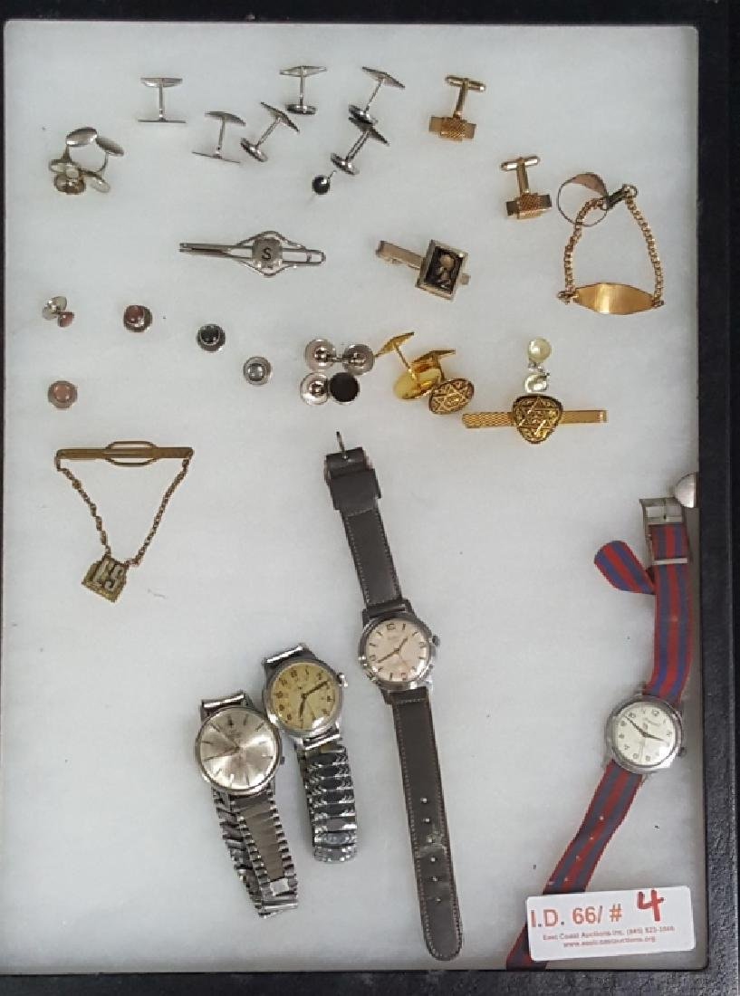 Vintage Mens Watches, Masonic Cuff Links & More
