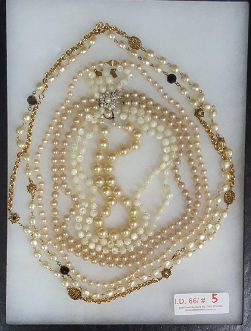 Collection of Individually Knotted Pearl Necklaces
