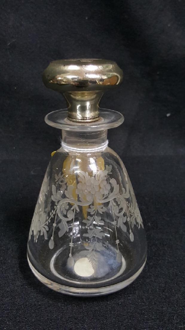 Genuine Hawkes Crystal & Sterling Perfume Bottle