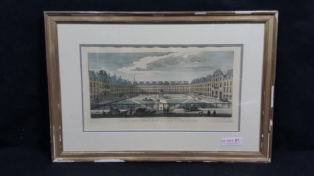 Vue De La Place Royalle / Musee du Louvre in Color