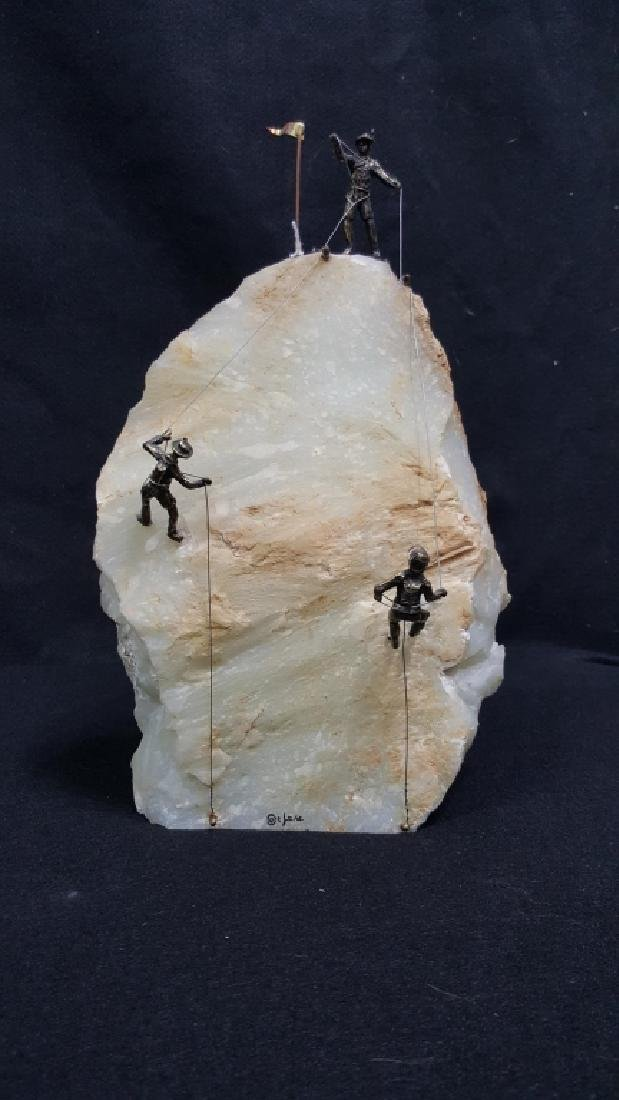 Curtis Jere Mountain Climbers Sculpture