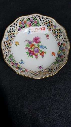 Schumann Bavaria Germany lace bowl