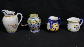Quimper France Pottery Pitchers & Caltagirone