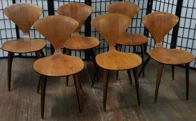 Set of 6 Norman Cherner for Plycraft Side Chairs