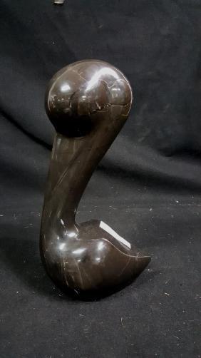 Modern Black Marble Swan